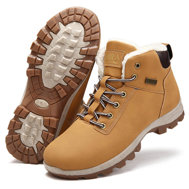 66106535f523 UEXIA Bottes Botas Bot Russia Style Fashion Mens Winter Martin Ankle Snow  Shoes Outdoor Fur Super
