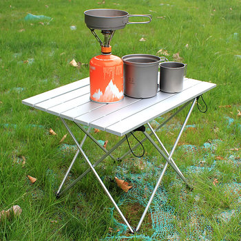 Salon de jardin-mesa pliante para acampada, mesa plegable, pliante de camping