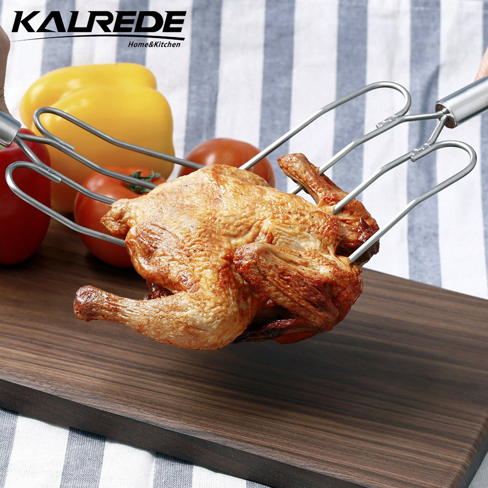KALREDE Turkey Fork Lifter Stainless Steel Large Fork Oven 2 set