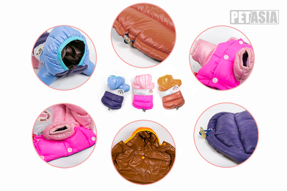 Winter Pet Dog Clothes Waterproof Warm designer Jacket Coat S -XXL Sport Style Puppy Hoodies Hat for Small Medium PETASIA 02