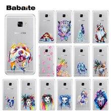 цена на Babaite Animal dog cat fox flamingo watercolor Custom Photo Soft Phone Case for Samsung S5 S6 S6 edge S7 edge S8 Plus S9 Plus