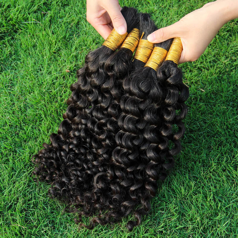 8a Human Braiding Hair Bulk Unprocessed Curly Filipino Human Hair Extension 1Kg Virgin Natural Braiding Hair Best Raw Bulk Hair