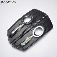 ECAHAYAKU 2Pcs Car LED Daytime Running Light DRL Day Light For VW Volkswagen CC 2012 2013