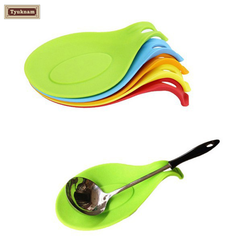 Silicone Heat Resistant Spoon Fork Mat Rest Utensil Spatula Holder Groovy Tool, Silicone Cooking Spoon Insulation Mat Placemat