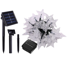 3M 20LED Solar Star Fairy String Light Waterproof Outdoor Christmas Twinkle Garland For Party Wedding Holiday Decoration