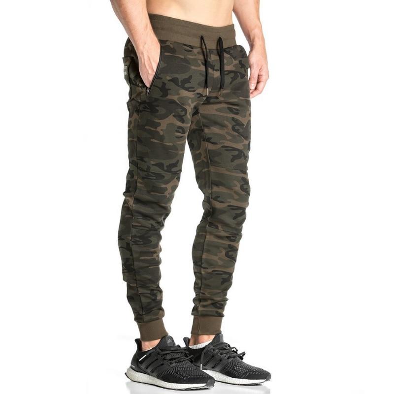 2018 férfi alkalmi nadrág álcázás nyomtatás pamut nadrág húzózsinór rugalmas derék zseb nadrág nadrág férfi nadrág tracksuit 50