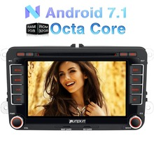 Wholesale!2GB RAM Android 6.0 7 Inch 2 Din Car DVD Player For VW/Skoda/Seat/Golf/Polo GPS Navigation Radio Octa-core Wifi 3G