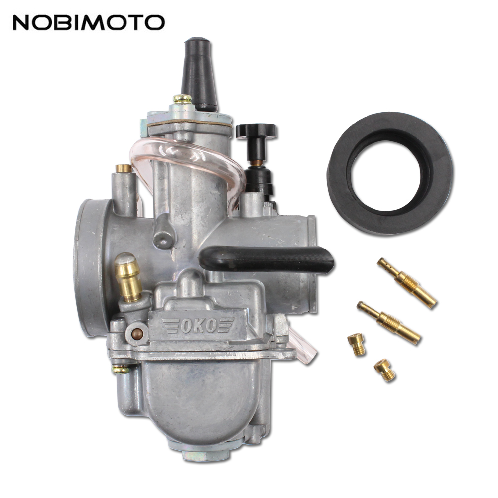 US $31 01 15% OFF|Motor Carburetor 24/26/28/30/32/34mm OKO carburetor for  adapted 2 stroke 4 stroke 125cc 300cc Pocket Bike Dirt Bike ATV OKO HK-in