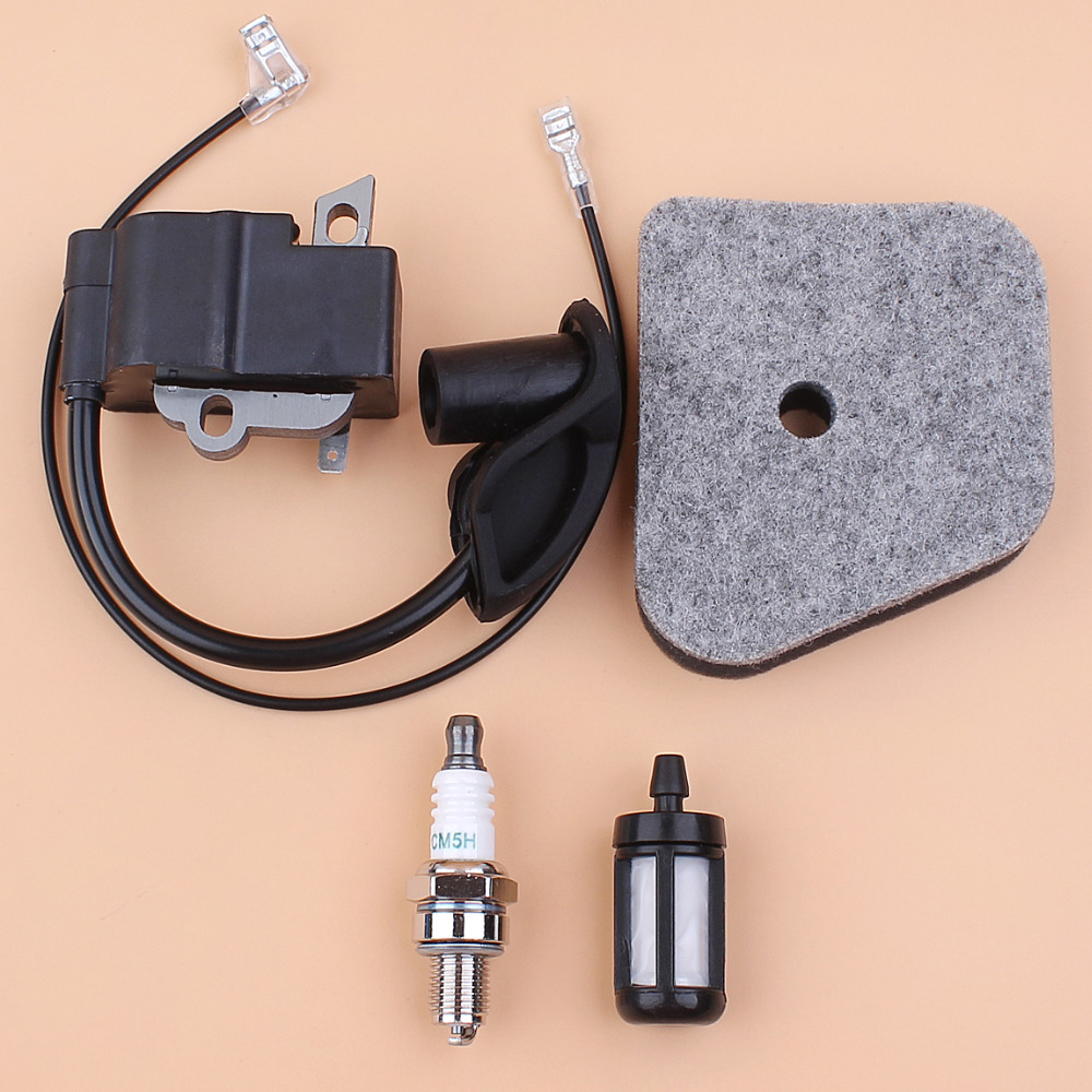 Ignition Coil Air Filter Spark Plug For STIHL FS90 FS100 FS110 FS130 KM90 HL95 HL100 HT100 HT101 Trimmers Replacement Parts new arrival mayitr grass trimmer gear box head replacement for fs130 fs120 fs110 fs100 fs90 fs85 fs80