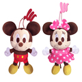 Disney Mickey Minnie Mouse Plush Toys Doll Winnie the Pooh Bear Squirrel Don Donald Daisy Duck Chip Dale 14CM 5.5'' Pendant Toys