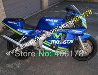 Ventas calientes, piezas para honda cbr250rr mc22 1990-1994 cbr250 mc22 movistar 90 91 92 93 94 de la motocicleta carenado set (moldeo por inyección)
