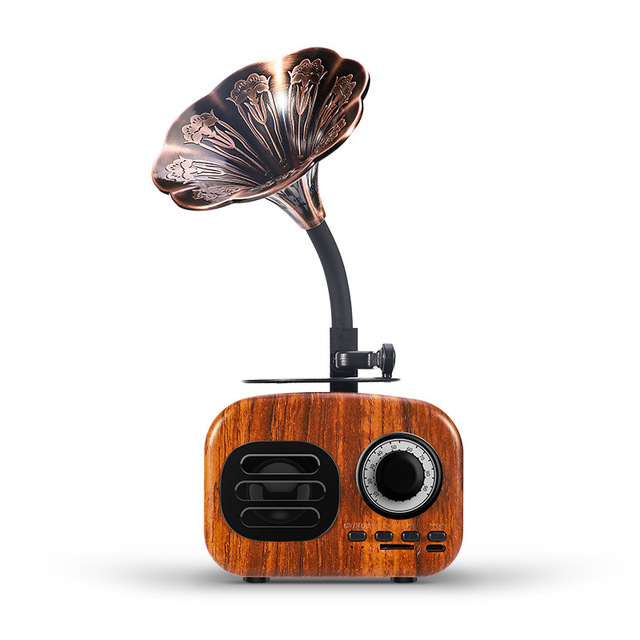 Retro Wood Portable Mini Bluetooth Speaker Wireless Loudspeaker Outdoor Speaker Sound System TF FM Radio