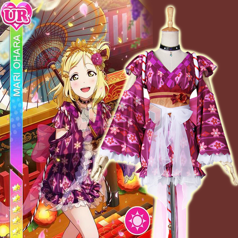 Здесь продается  Cosplay legend Love Live cosplay Sunshine Aqours Ohara Mari Yukata Ver Awakened cosplay adult costume  full set all size  Одежда и аксессуары