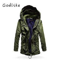 GODLIKE Casual day cotton jacket with thick men's clothes/overalls large size young cotton jacket/Cotton coat