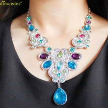 Creative Necklace Women Pendant Chain Women Statement Crystal Bib Beaded Collar Necklace Choker Accessories Sexy Chain