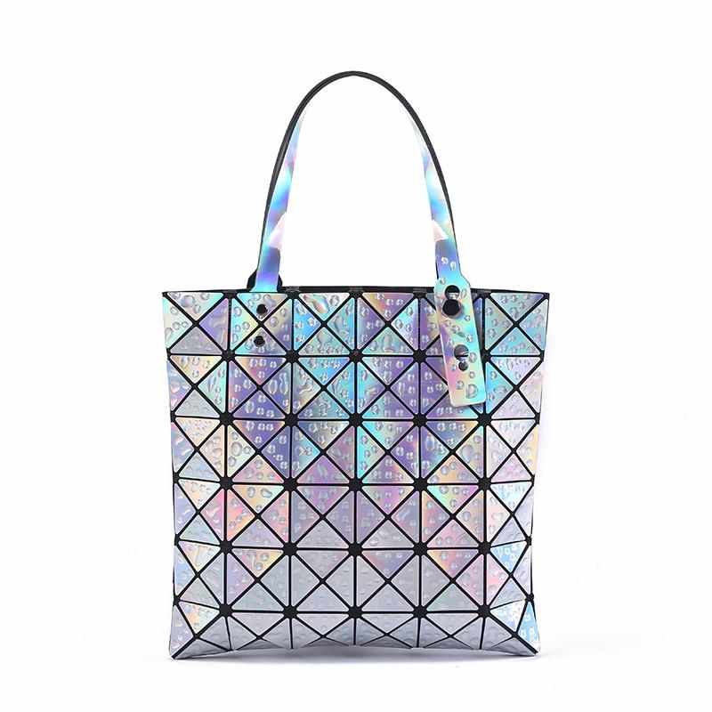 18b8eae4610c New Raindrop Folded Women Bags Geometric Plaid Luxury Handbags ...