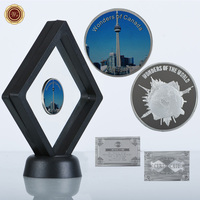 WR Birthday Gifts Business Souvenir CN Tower Wonders Of Canada Commemorative Silver Coin With Nice Case