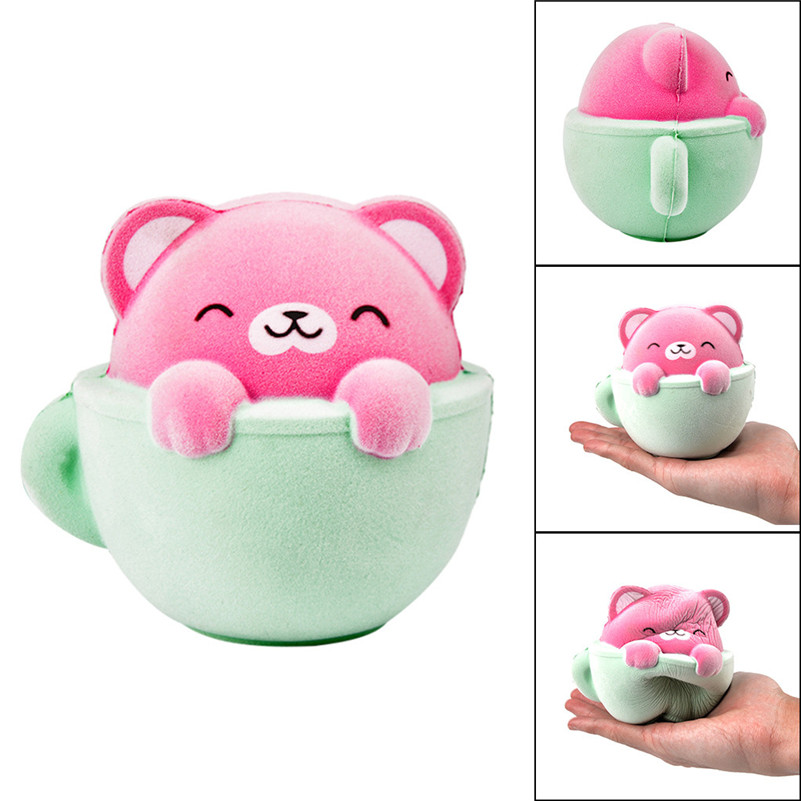 Furry Cat Scented Slow Rising Squishies Toy Squishes Stress Relief Toy For Kids Kawaii Stationery Wipes Anti-stress D4