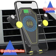 XUNMA  Car Mount Qi Wireless Charger For iPhone X 8 Plus Flash Charge Wireless Charging Pad Car Holder Stand For Samsung S9 S8 fast car wireless charger cup qi charging stand for iphone x 8 plus samsung s9 8 7 6edge sony lg mix usb induction charge holder