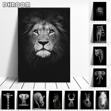 Canvas Painting Animal Wall Art Lion Elephant Deer Zebra Posters and Prints Wall Pictures for Living Room Decoration Home Decor цены онлайн
