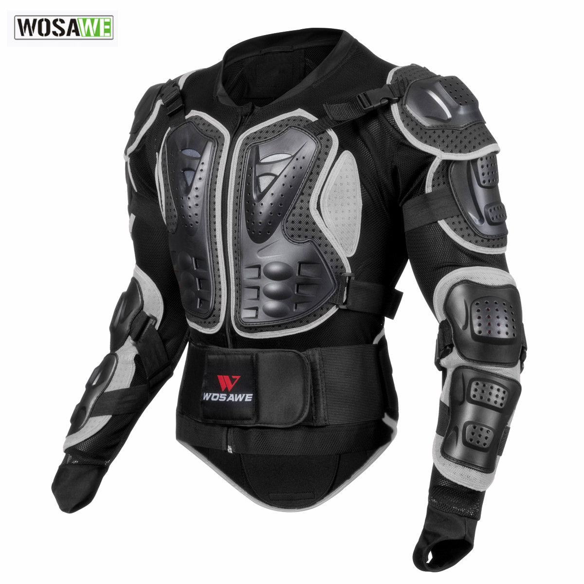WOSAWE Moto armure veste Protection du corps Moto tortue course Moto Cross Back Support bras protecteur