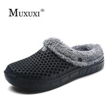 Senza Fretta Men Shoes Winter Slippers Warm Soft Slippers Non-slip Home Furry Shoes Slippers Floor Shoes Purple Soft Home Shoes