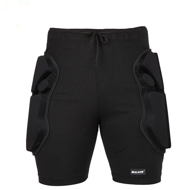 Outdoor Riding Skiing 2.2cm Thicken EVA Padded Anti-fall Shorts Cycling Sports Fast Dry Breathable Hips Protection Short Trouser