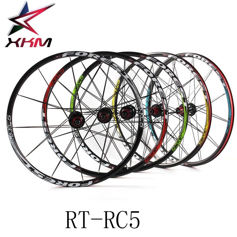 RT RC5 Mountain Bike Bicycle Six Star Style 5 Bearing Carbon Fiber Hub Super Smooth Wheel Wheelset 26 /27.5 er