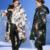 Europa e América Impressão Floral Plus Size Para Baixo Casaco de Inverno Mulheres Jaqueta Grossa Jaqueta Assimétrica Mujer das Mulheres A010
