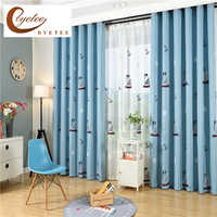 [byetee] Children Curtains For Living Blackout Embroidered Curtains  Children Baby Room Boys Bedroom Kids Curtain Fabrics Window
