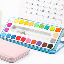 24 Colors Solid Watercolor Set for Brush Pen Painting Paint Suit Drawing Water Color Brush Gift Artist Office School Supplies