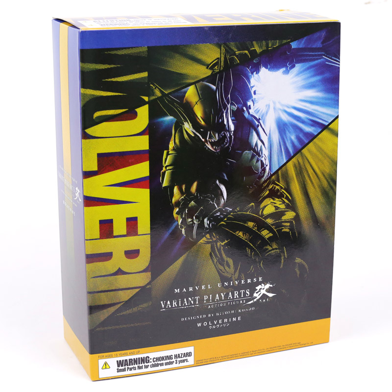 Play Arts Kai Marvel X-MEN Wolverine Logan PVC Action Figure 26