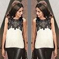 women tops 2017 new fashion patchwork lace blusas mujer blusa social feminina roupas moda femininas camisa female blouse shirts