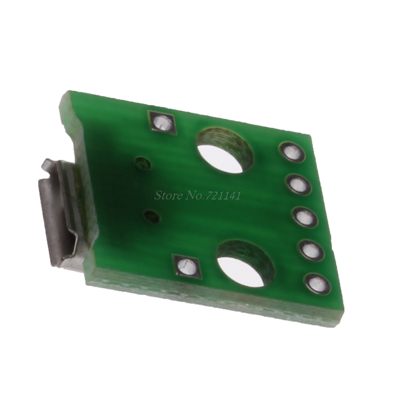 5Pcs Hembra Micro USB A DIP Adaptador Convertidor PCB Placa DSUK Breakout 2.54mm
