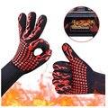Рукавицы для печи  перчатки для выпечки  экстремально Жаростойкие Универсальные перчатки для приготовления пищи на гриле  кухонные перчатк...