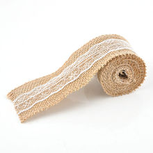 Natural Jute Ribbon with Lace