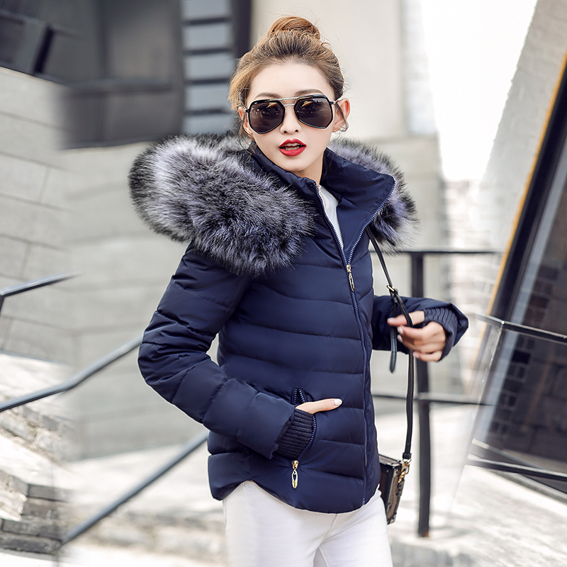 Jackets Winter Outwear Short Warm Coat Hooded-Down Women Parkas Cotton Ladies Casual