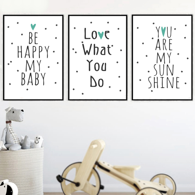 Love Quotes Wall Art Canvas Painting Nordic Posters Prints Pop Pictures Room