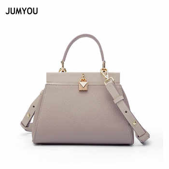 Small Handbags Womens Genuine Leather Litchi Fashion Females Messenger Bags Soft Real Leather Ladies Shoulder Bag Lock Trend - DISCOUNT ITEM  30% OFF All Category