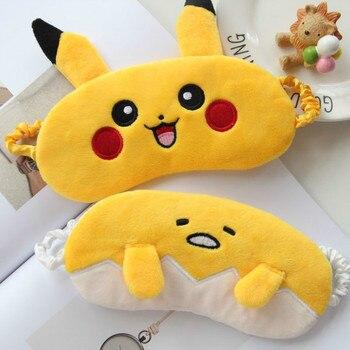Candice guo! Super śliczne pluszowa zabawka żółty Pikachu leniwe jajko Gudetama cień do powiek oczy maska kreatywne urodziny prezent na Boże Narodzenie 1 pc