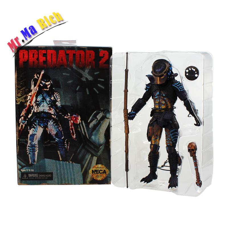 Neca Predator 2 Pvc Action Figures Toys Collectible Model Dolls Classic Toy Great Gift 718cm With Box Free Shipping free shipping neca official 1979 movie classic original alien pvc action figure collectible toy doll 7 18cm mvfg035