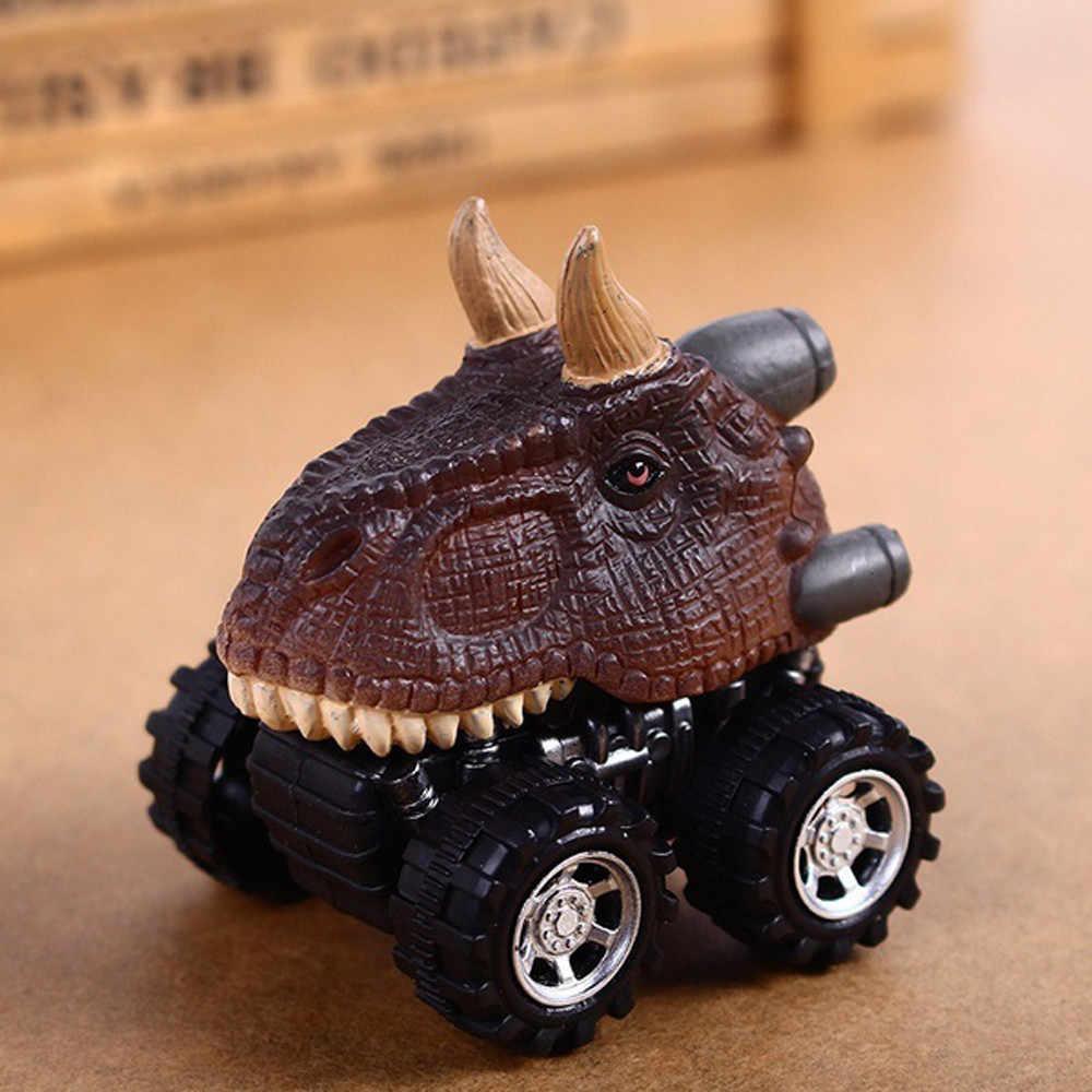 Подарок на день детей, пластиковая игрушка, модель динозавра, мини-игрушка, автомобиль, задняя часть автомобиля, подарок для более 3 лет, игрушки для мальчиков