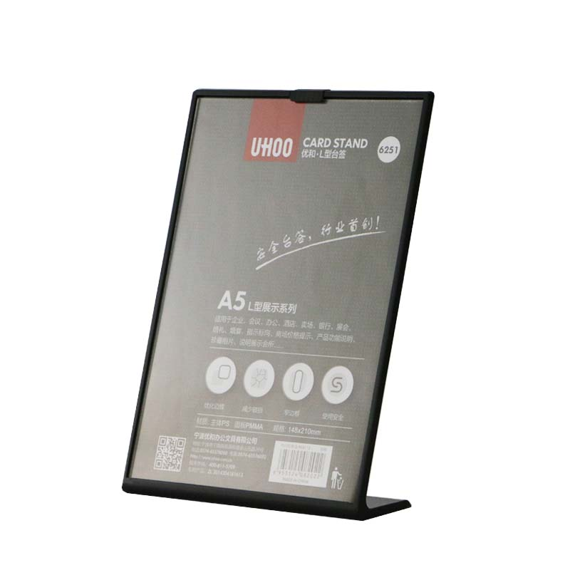 Buy Cheap A5 Menu Stand Counter Cashier Desk Sign Holder Menu Stand Plastic Frame Photo Frame Advertising Food Poster Frame Price Display Desk Accessories & Organizer