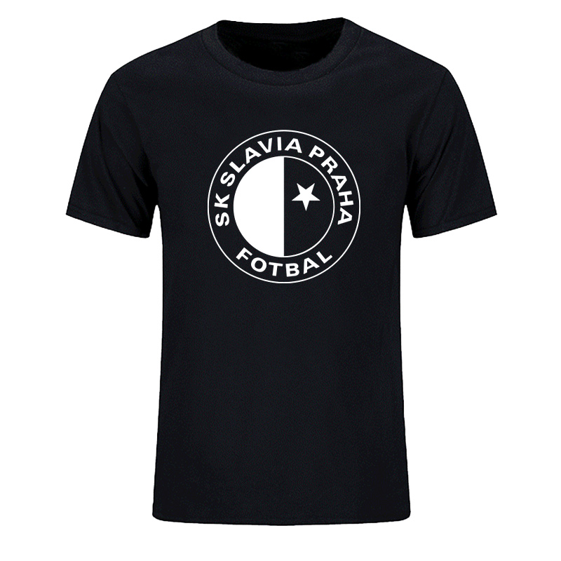 BITTER COOFFEE New SK Slavia Praha T Shirt Czech Republic Prague Print  Quality Cotton T-Shirt For Men Plus Size XS-2XL