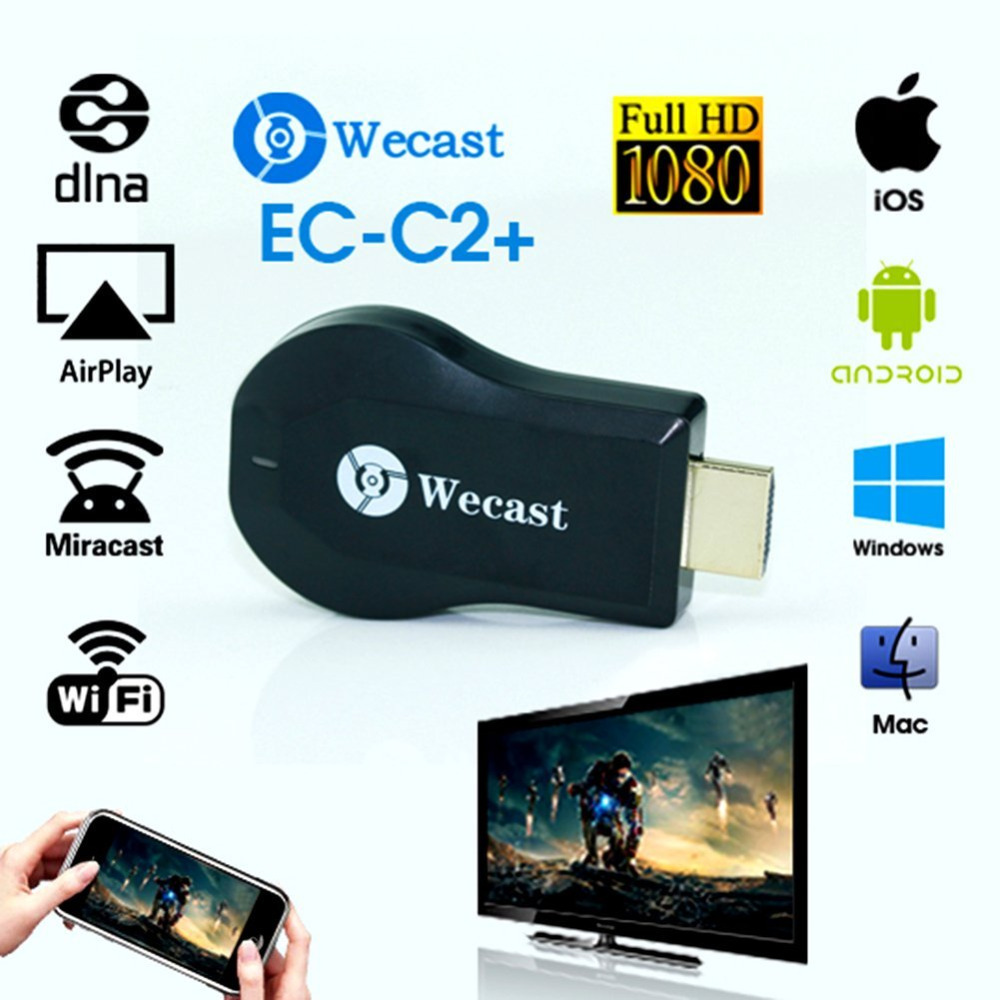 Full HD 1080 P מקלט תצוגת WiFi Wireless Dongle HDMI טלוויזיה מיני Airmirroring DLNA Airplay עבור אנדרואיד, IOS, HDTV טלפונים חכמים