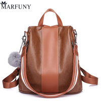 High Quality Pu Leather Backpack Women Patchwork Casual Daypacks Female Anti Theft Backpacks For Teenage Girls