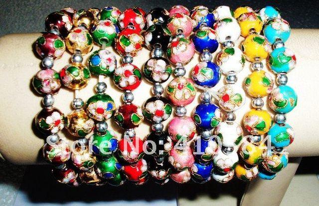 Lot 25 Pcs Cloisonne Full Bead Bracelet Christmas Gift