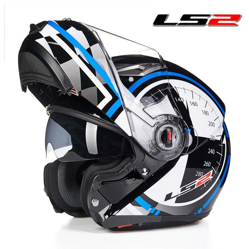 LS2 FF370 откидной мотоциклетный шлем двойной щит с внутренним солнечным объективом модульные мото гоночные шлемы ECE утвержденный мотоциклетный шлем