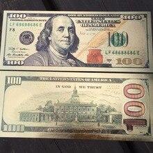 США 100 долларовая Золотая банкнота бумажная монета медаль 24k Соединенные Штаты Америки