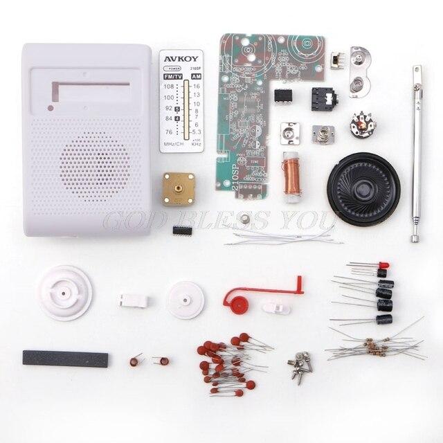 CF210SP AM/FM 스테레오 라디오 키트 DIY 전자 조립 세트 키트 학습자 드롭 배송